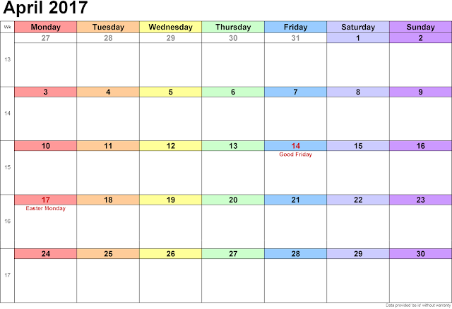 Calendar April 2017, 2017 April Calendar, Calendar 2017 April, Calendar for April 2017, 2017 Calendar April, Printable April 2017 Calendar