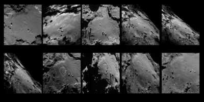 Comet surface changes before Rosetta's eyes - Créditos image PHYS ORG