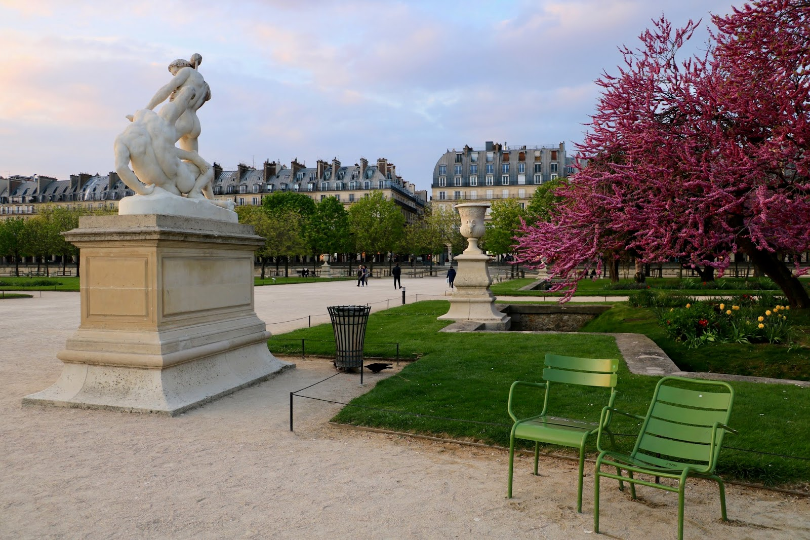Paris Tuileries Garden spring 2019