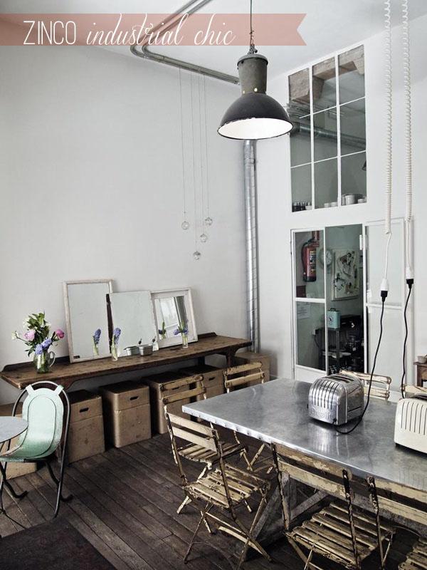 Arredare vintage zinco industrial chic home shabby home for Home arredamento