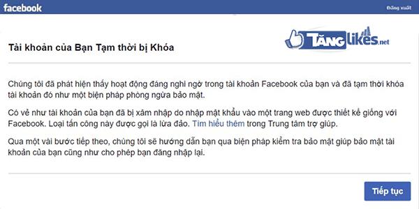 tai khoan facebook bi khoa tam thoi