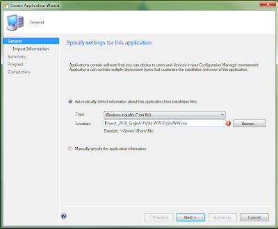 How to correctly setup Project, Visio and Office as an application in SCCM 2012 2