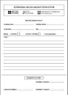 Writing answer sheet ielts pdf form