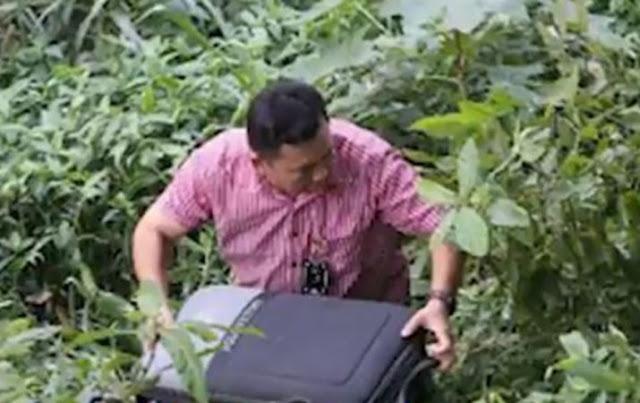 Seorang Pekerja Temukan Potongan Tubuh Manusia di Dalam Koper