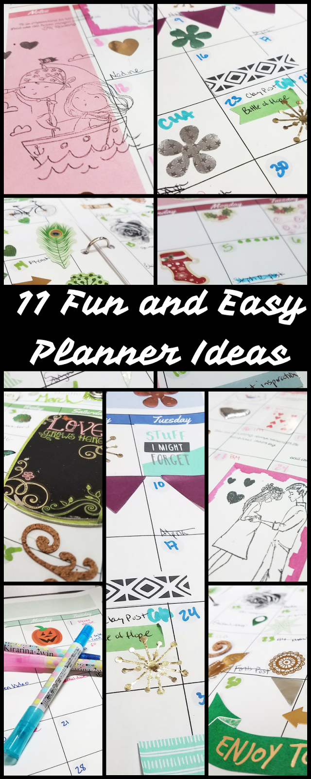 erin reed makes 11 fun and easy planner ideas