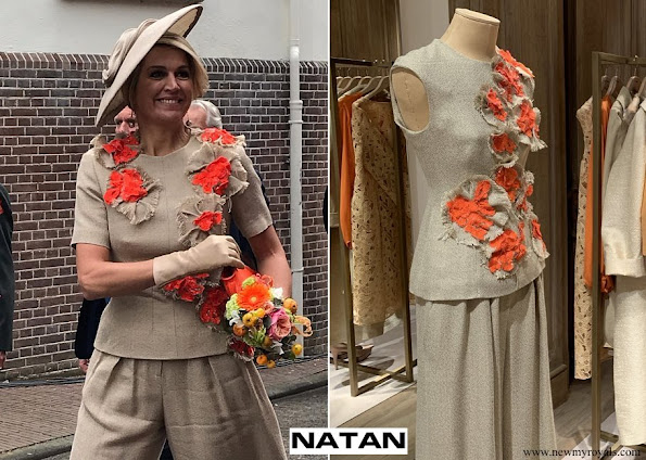 Queen Maxima Natan top and trousers