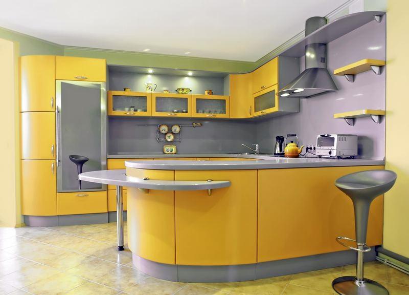 Cuisine Moderne Jaune cuisine jaune moderne ~ idée déco