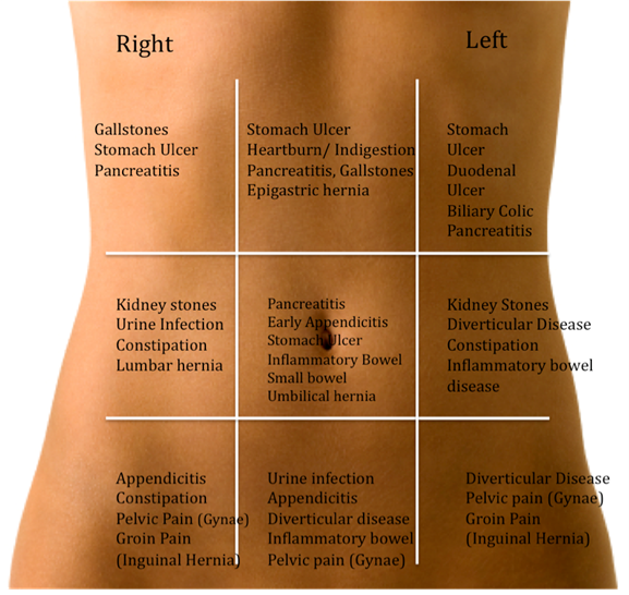 Abdomen Sites: MEDICINE PAKISTAN: Causes Of Pain Abdomen According To Site