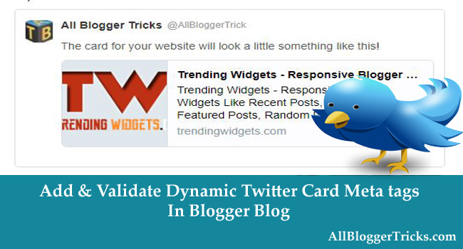 How to Easily Add Twitter Card in Blogger Template