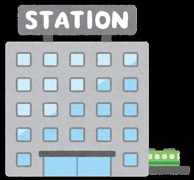 大きな駅のイラスト