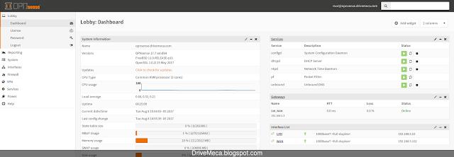 Desde el dashboard podemos iniciar, reiniciar o parar el servicio DHCP