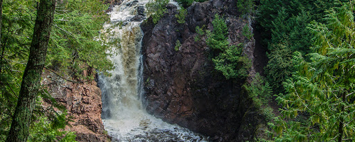 Brownstone Falls at Copper Falls State Park on the NCT
