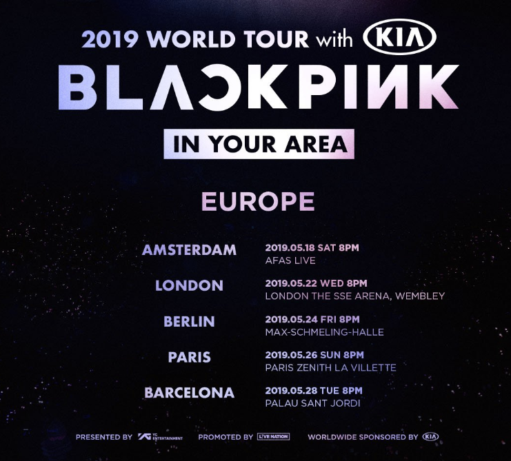 5 Cities In Europe Including London Paris Added To Blackpink S World