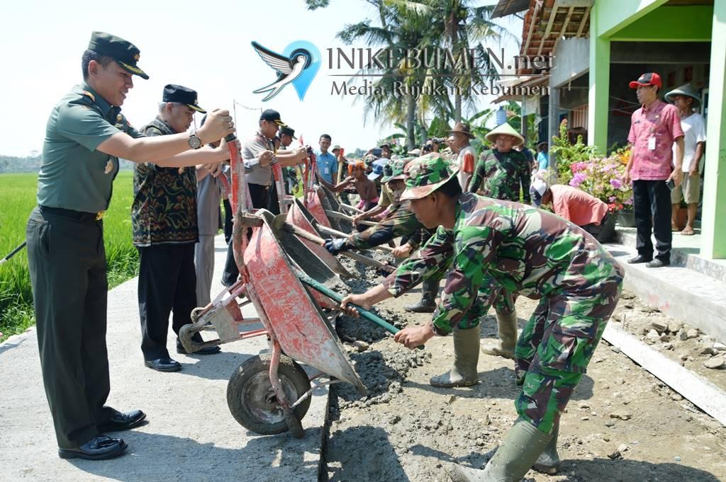 Termasuk Desa Tertinggal di Kebumen, TMMD Sengkuyung Tahap I Digelar di Karangsari