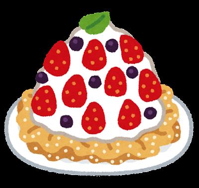 ファンネルケーキのイラスト
