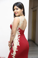 Rachana Smit in Red Deep neck Sleeveless Gown at Idem Deyyam music launch ~ Celebrities Exclusive Galleries 084.JPG