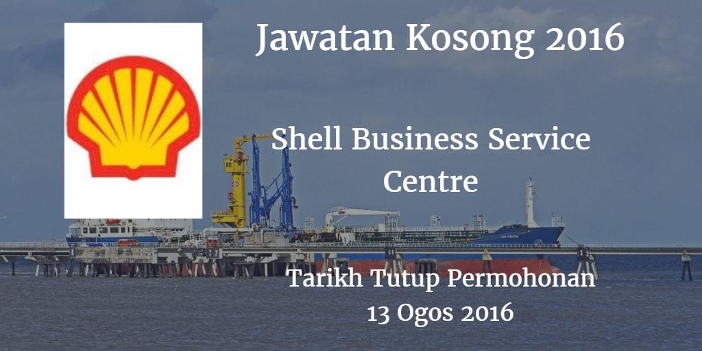 Jawatan Kosong Shell Business Service Centre 13 Ogos 2016