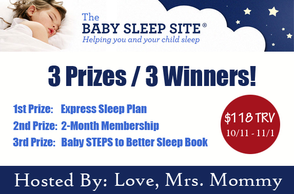 Enter to be 1 of 3 winners in the Baby Sleep Site #Giveaway before it ends on 11/1