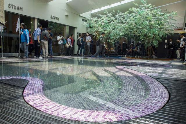 Suasana ruang berendam di Hotel dan Griya Pijat Alexis, Jakarta, Selasa (31/10/2017). Pemerintah Provinsi (Pemprov) DKI Jakarta menolak permohonan Tanda Daftar Usaha Pariwisata (TDUP) Hotel dan Griya Pijat Alexis