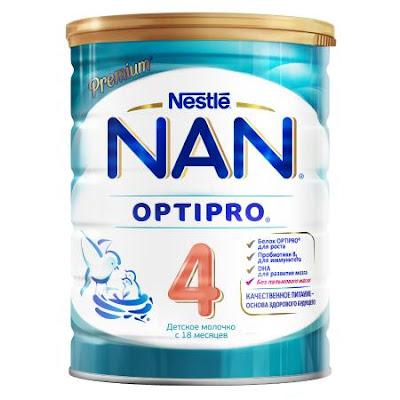 Sữa NAN 4 hộp 800gr từ 18 tháng tuổi - Sữa NAN Nga xách tay chính hãng