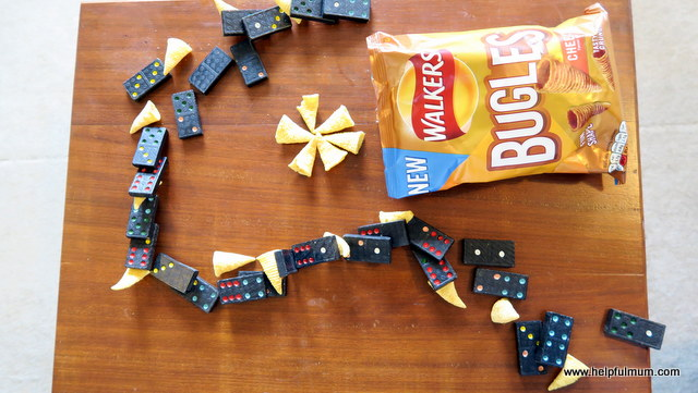 Walkers Bugles domino trick