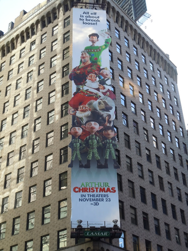 Arthur Christmas billboard NYC