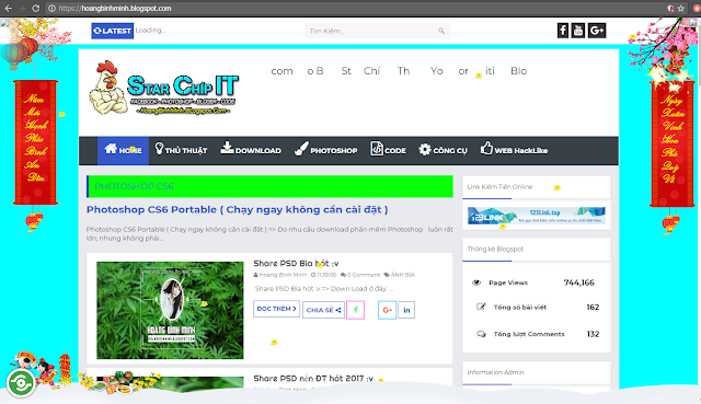 Code trang trí tết cho Blog