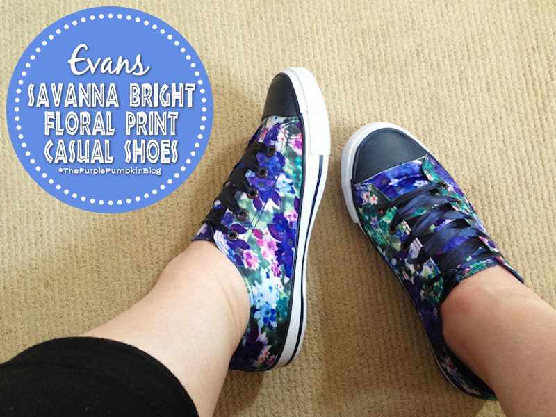 Evans Savanna Bright Floral Print Casual Shoes