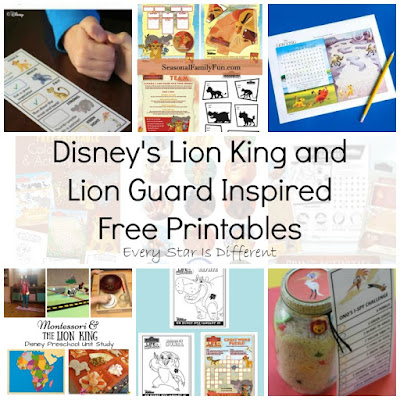 Disney's Lion King and Lion Guard Inspired Free Printables