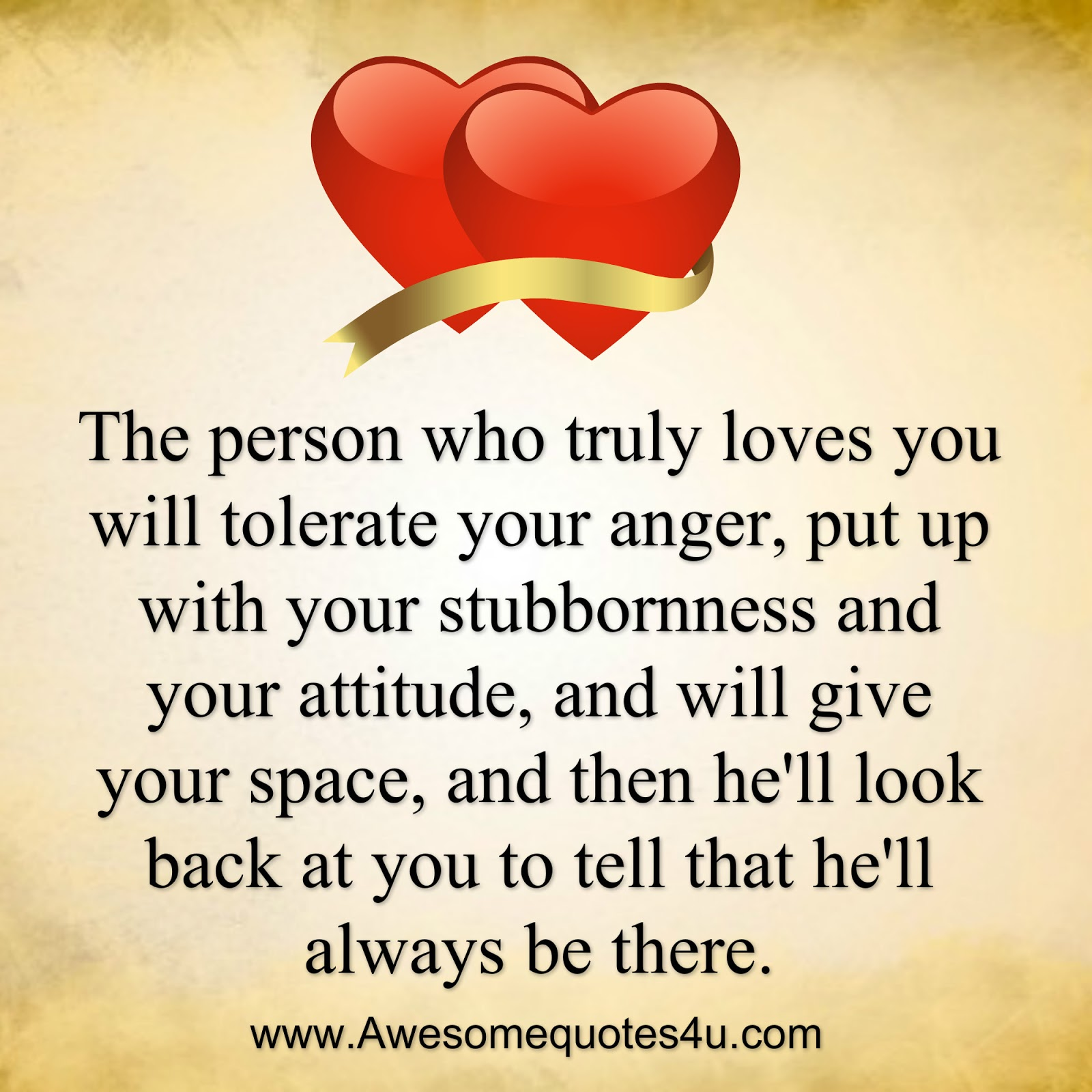 Awesome Quotes: The Person Who Truly Loves You
