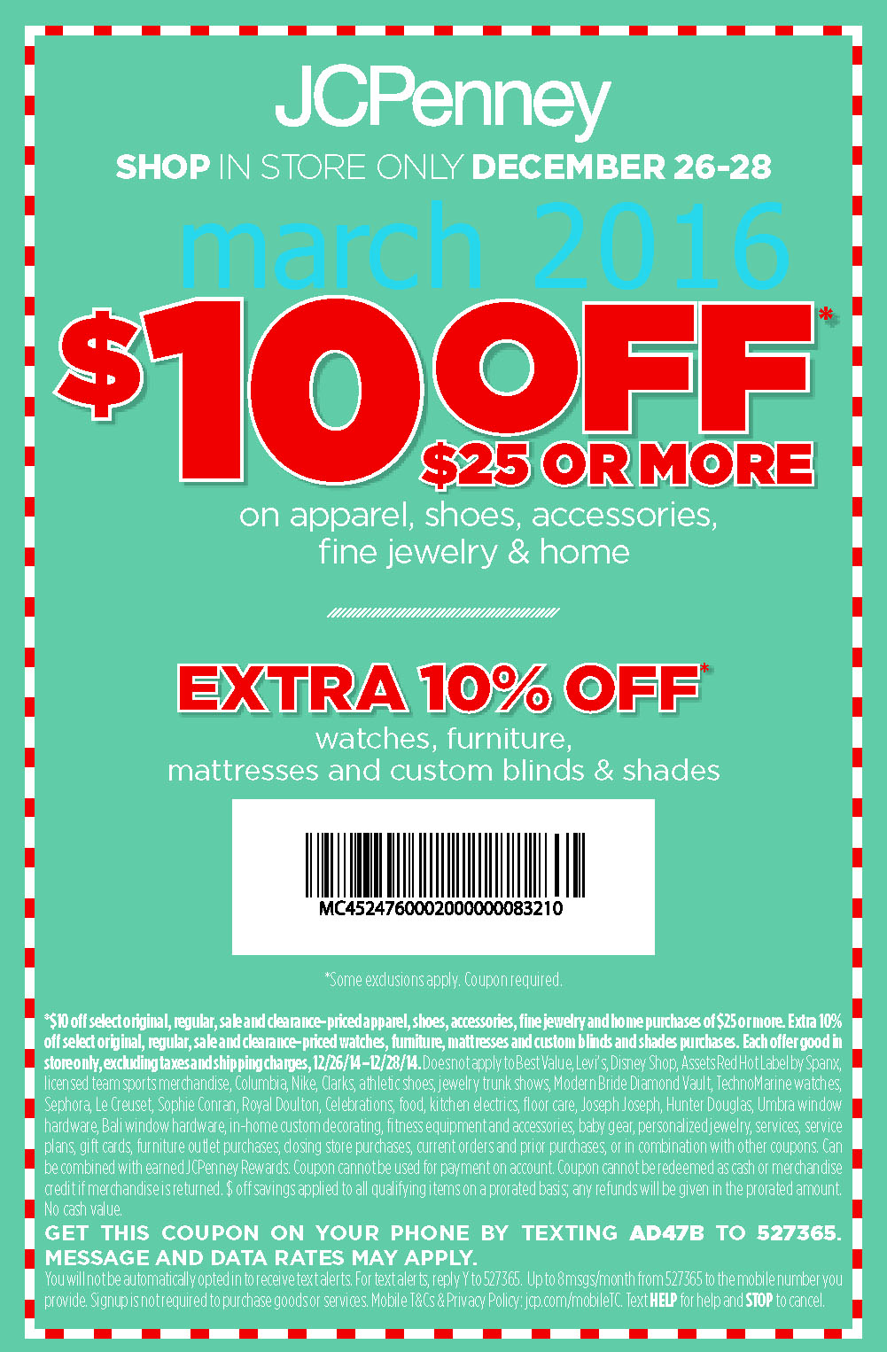 Discount coupons for jcpenney