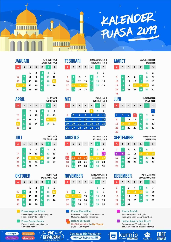 Download Kalender Puasa 2019, Sunnah dan Wajib - Denpono Blog