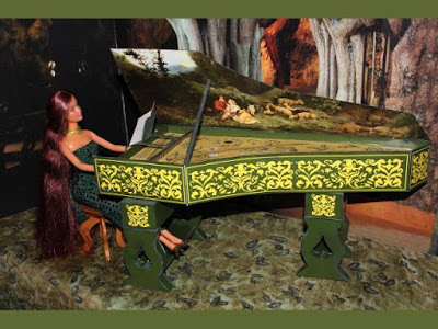 Barbie Scale Harpsichord Paper Model