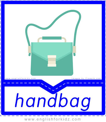 Handbag - clothes and accessories flashcards to learn English