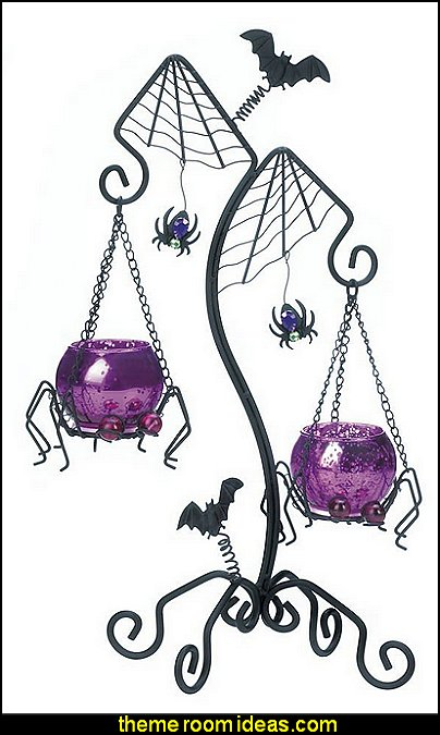 Spider Duo Candle Holder  Nightmare Before Christmas bedroom decorating ideas - nightmare before christmas decor  - jack skellington decor - Nightmare Before Christmas Bedroom Decor -  Jack skellington Sally the nightmare before Christmas - Nightmare Before Christmas  bedding - Halloween - Tim Burton - Sally Nightmare Before Christmas bedroom