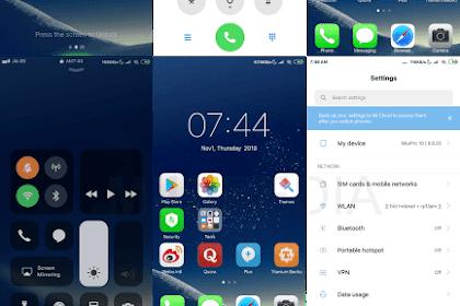 Download Tema MIUI iOS Night + Cara Pasang Beserta Mod Theme Manager