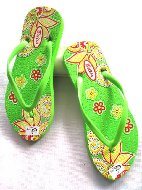 Grosir Sandal Spon Indonesia | Sandal sablon bunga wanita