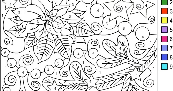 Nicole S Free Coloring Pages Color By Number Winter