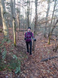 Randonneuse l'automne Jay Mountain Adirondaks