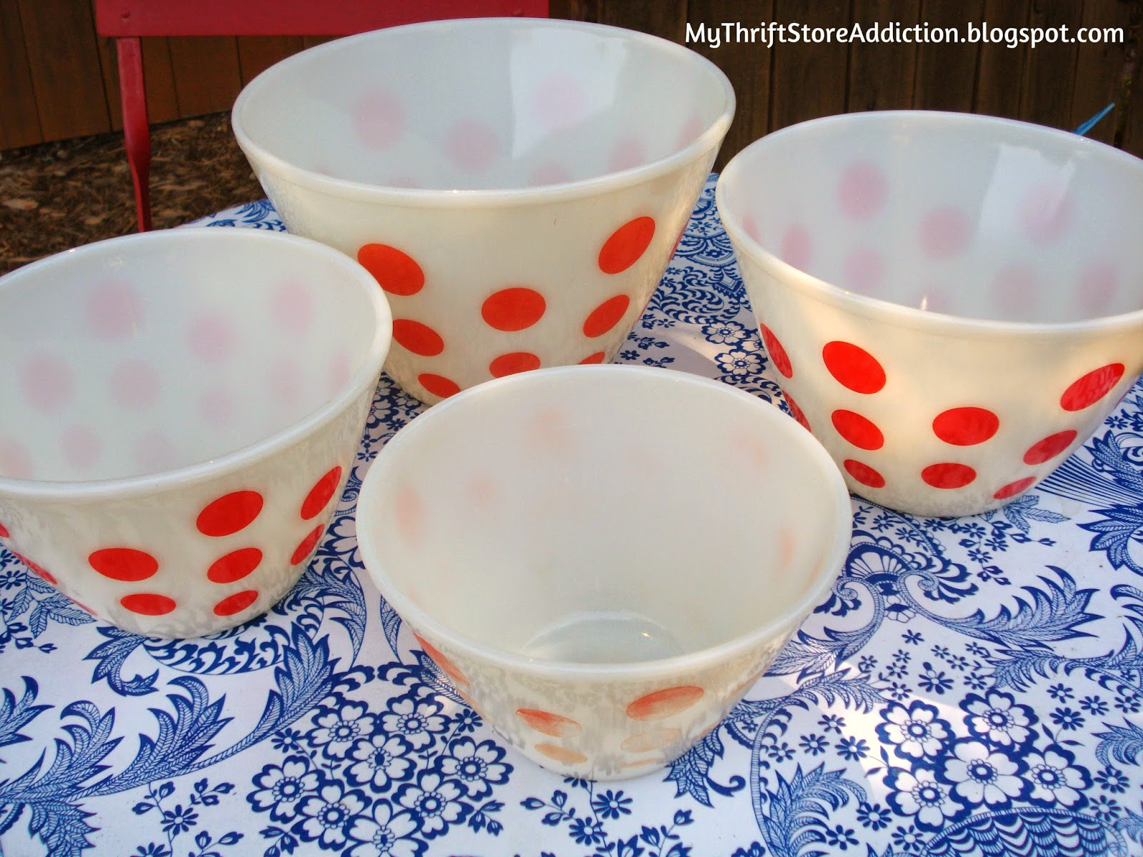 Fire King Dots Bowls