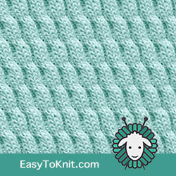 Twist Cable 30: Left Diagonal | Easy to knit #knittingstitches #knitcables