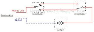 wiring diagram 2 saklar tukar 1 lampu