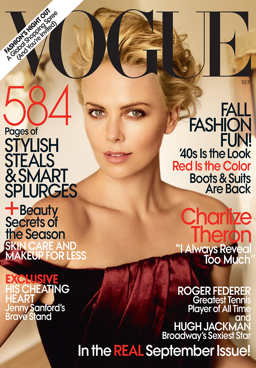vogue charlize theron 2009 september years 2007 throughout sept october
