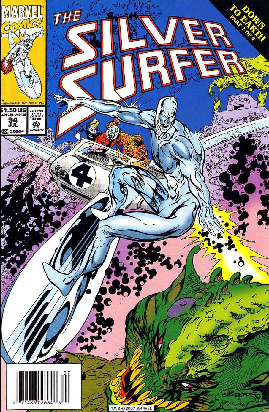 Read online Silver Surfer (1987) comic -  Issue #94 - 1