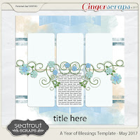 Template : A Year of Blessings Template - May 2017 by Seatrout Scraps