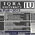 Iqra University Admission  2016 Islamabad Campus Test Date Admission Result
