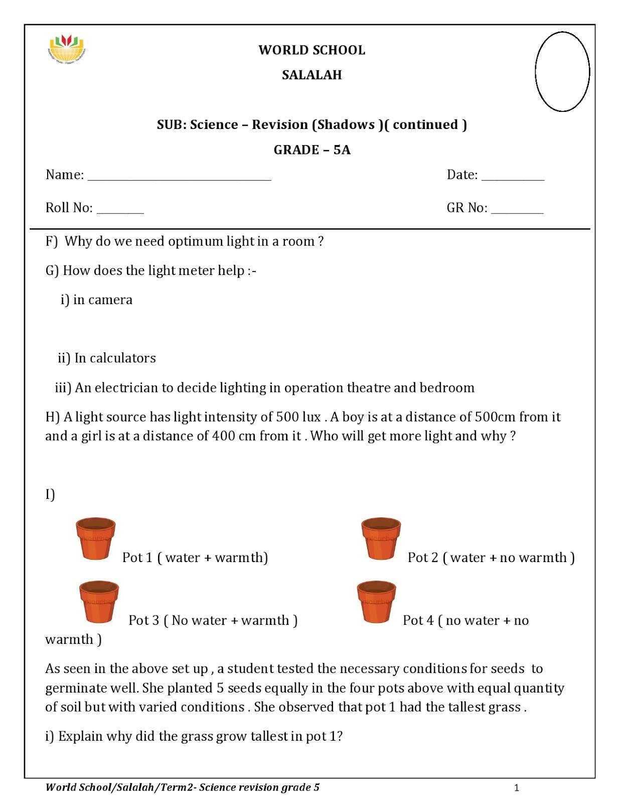 small resolution of WORLD SCHOOL OMAN: Homework for Grade 5 as on 16/05/2018