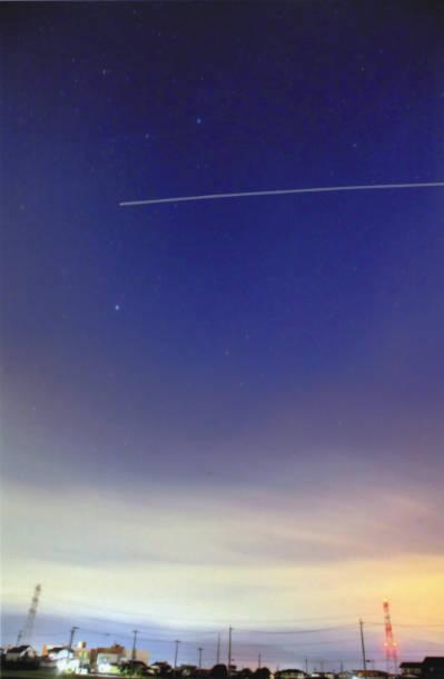 国際宇宙ステーション(ISS)光跡撮影 飯沼義照さん