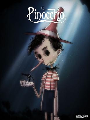Los clásicos de Disney al estilo de Tim Burton: Pinocho. Ver. Oír. Contar.