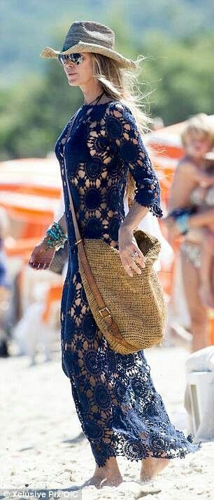 szydelkowa suknia z elementow